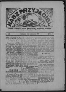 """Nasz Przyjaciel : dodatek tygodniowy """"Głosu Wąbrzeskiego"""" poświęcony sprawom oświatowym, kulturalnym i literackim 1934.04.14, R. 12, nr 24 [i.e. 15]"""