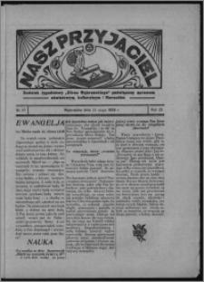 """Nasz Przyjaciel : dodatek tygodniowy """"Głosu Wąbrzeskiego"""" poświęcony sprawom oświatowym, kulturalnym i literackim 1934.05.12, R. 12, nr 27 [i.e. 19]"""