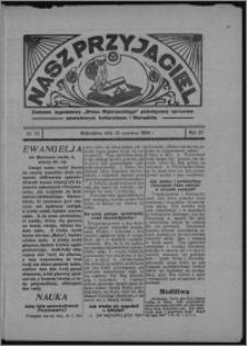 """Nasz Przyjaciel : dodatek tygodniowy """"Głosu Wąbrzeskiego"""" poświęcony sprawom oświatowym, kulturalnym i literackim 1934.06.23, R. 12, nr 23 [i.e. 25]"""