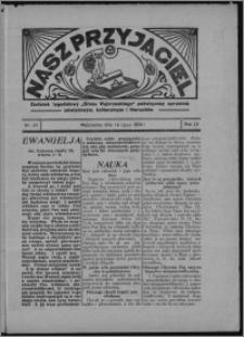 """Nasz Przyjaciel : dodatek tygodniowy """"Głosu Wąbrzeskiego"""" poświęcony sprawom oświatowym, kulturalnym i literackim 1934.07.14, R. 12, nr 26 [i.e. 28]"""