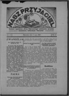 """Nasz Przyjaciel : dodatek tygodniowy """"Głosu Wąbrzeskiego"""" poświęcony sprawom oświatowym, kulturalnym i literackim 1934.07.21, R. 12, nr 27 [i.e. 29]"""
