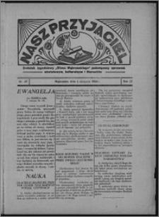 """Nasz Przyjaciel : dodatek tygodniowy """"Głosu Wąbrzeskiego"""" poświęcony sprawom oświatowym, kulturalnym i literackim 1934.08.04, R. 12, nr 29 [i.e. 31]"""