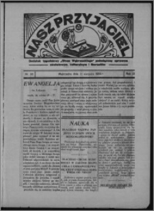 """Nasz Przyjaciel : dodatek tygodniowy """"Głosu Wąbrzeskiego"""" poświęcony sprawom oświatowym, kulturalnym i literackim 1934.08.11, R. 12, nr 30 [i.e. 32]"""