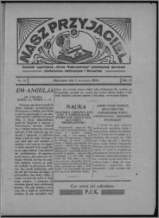 """Nasz Przyjaciel : dodatek tygodniowy """"Głosu Wąbrzeskiego"""" poświęcony sprawom oświatowym, kulturalnym i literackim 1934.09.08, R. 12, nr 38 [i.e. 36]"""
