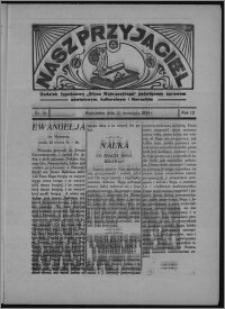 """Nasz Przyjaciel : dodatek tygodniowy """"Głosu Wąbrzeskiego"""" poświęcony sprawom oświatowym, kulturalnym i literackim 1934.09.15, R. 12, nr 39 [i.e. 37]"""