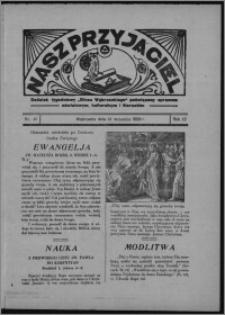 """Nasz Przyjaciel : dodatek tygodniowy """"Głosu Wąbrzeskiego"""" poświęcony sprawom oświatowym, kulturalnym i literackim 1934.09.22, R. 12, nr 40 [i.e. 38]"""