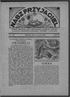 """Nasz Przyjaciel : dodatek tygodniowy """"Głosu Wąbrzeskiego"""" poświęcony sprawom oświatowym, kulturalnym i literackim 1934.09.29, R. 12, nr 41 [i.e. 39]"""