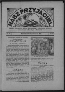 """Nasz Przyjaciel : dodatek tygodniowy """"Głosu Wąbrzeskiego"""" poświęcony sprawom oświatowym, kulturalnym i literackim 1934.10.06, R. 15 [i.e. 12], nr 42 [i.e. 40]"""