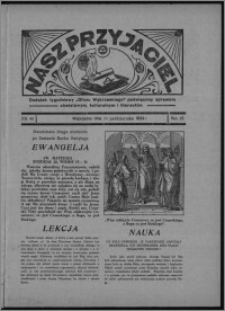 """Nasz Przyjaciel : dodatek tygodniowy """"Głosu Wąbrzeskiego"""" poświęcony sprawom oświatowym, kulturalnym i literackim 1934.10.20, R. 15 [i.e. 12], nr 44 [i.e. 42]"""