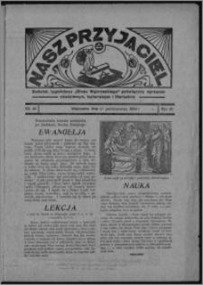 """Nasz Przyjaciel : dodatek tygodniowy """"Głosu Wąbrzeskiego"""" poświęcony sprawom oświatowym, kulturalnym i literackim 1934.10.27, R. 15 [i.e. 12], nr 45 [i.e. 43]"""