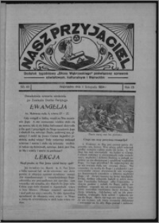 """Nasz Przyjaciel : dodatek tygodniowy """"Głosu Wąbrzeskiego"""" poświęcony sprawom oświatowym, kulturalnym i literackim 1934.11.03, R. 15 [i.e. 12], nr 46 [i.e. 44]"""