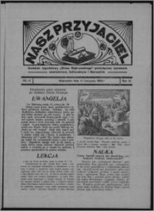 """Nasz Przyjaciel : dodatek tygodniowy """"Głosu Wąbrzeskiego"""" poświęcony sprawom oświatowym, kulturalnym i literackim 1934.11.10, R. 15 [i.e 12], nr 47 [i.e. 45]"""