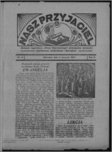 """Nasz Przyjaciel : dodatek tygodniowy """"Głosu Wąbrzeskiego"""" poświęcony sprawom oświatowym, kulturalnym i literackim 1934.11.24, R. 15 [i.e. 12], nr 49 [i.e. 47]"""