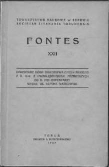 Inwentarz dóbr biskupstwa chełmińskiego z r. 1614 : z uwzględniem późniejszych do r. 1759 inwentarzy