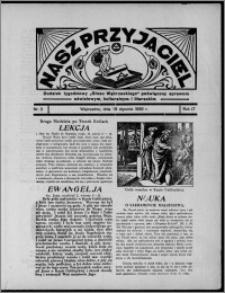 """Nasz Przyjaciel : dodatek tygodniowy """"Głosu Wąbrzeskiego"""" poświęcony sprawom oświatowym, kulturalnym i literackim 1936.01.18, R. 17, nr 3"""