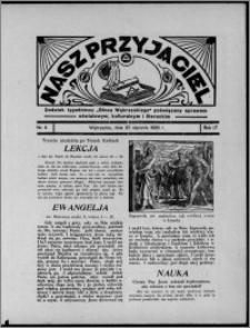 """Nasz Przyjaciel : dodatek tygodniowy """"Głosu Wąbrzeskiego"""" poświęcony sprawom oświatowym, kulturalnym i literackim 1936.01.25, R. 17, nr 4"""