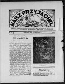 """Nasz Przyjaciel : dodatek tygodniowy """"Głosu Wąbrzeskiego"""" poświęcony sprawom oświatowym, kulturalnym i literackim 1936.03.14, R. 17, nr 11"""