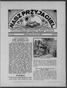 """Nasz Przyjaciel : dodatek tygodniowy """"Głosu Wąbrzeskiego"""" poświęcony sprawom oświatowym, kulturalnym i literackim 1936.03.21, R. 17, nr 12"""