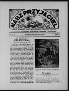 """Nasz Przyjaciel : dodatek tygodniowy """"Głosu Wąbrzeskiego"""" poświęcony sprawom oświatowym, kulturalnym i literackim 1936.03.28, R. 17, nr 13"""