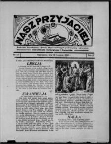 """Nasz Przyjaciel : dodatek tygodniowy """"Głosu Wąbrzeskiego"""" poświęcony sprawom oświatowym, kulturalnym i literackim 1936.04.18, R. 17, nr 16"""