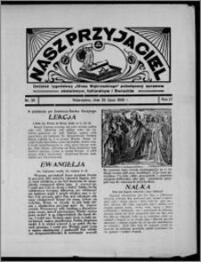 """Nasz Przyjaciel : dodatek tygodniowy """"Głosu Wąbrzeskiego"""" poświęcony sprawom oświatowym, kulturalnym i literackim 1936.07.25, R. 17, nr 30"""