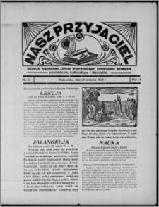 """Nasz Przyjaciel : dodatek tygodniowy """"Głosu Wąbrzeskiego"""" poświęcony sprawom oświatowym, kulturalnym i literackim 1936.08.29, R. 17, nr 35"""