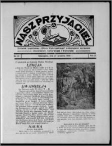 """Nasz Przyjaciel : dodatek tygodniowy """"Głosu Wąbrzeskiego"""" poświęcony sprawom oświatowym, kulturalnym i literackim 1936.09.26, R. 17, nr 39"""