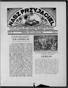 """Nasz Przyjaciel : dodatek tygodniowy """"Głosu Wąbrzeskiego"""" poświęcony sprawom oświatowym, kulturalnym i literackim 1936.10.24, R. 17, nr 43"""