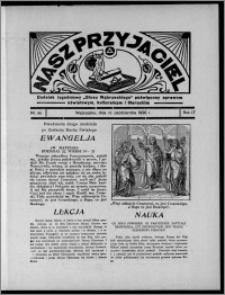 """Nasz Przyjaciel : dodatek tygodniowy """"Głosu Wąbrzeskiego"""" poświęcony sprawom oświatowym, kulturalnym i literackim 1936.10.31, R. 17, nr 44"""