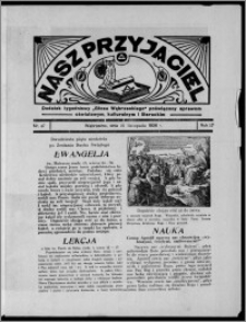 """Nasz Przyjaciel : dodatek tygodniowy """"Głosu Wąbrzeskiego"""" poświęcony sprawom oświatowym, kulturalnym i literackim 1936.11.21, R. 17, nr 47"""