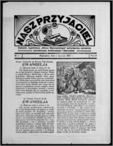 """Nasz Przyjaciel : dodatek tygodniowy """"Głosu Wąbrzeskiego"""" poświęcony sprawom oświatowym, kulturalnym i literackim 1937.01.01, R. 18, nr 1"""