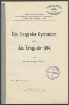 Das Stargarder Gymnasium und das Kriegsjahr 1914