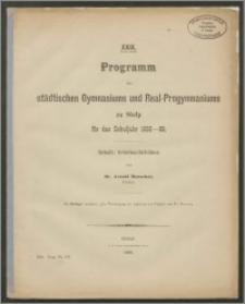 XXIX. Programm des städtischen Gymnasiums und Real-Progymnasiums zu Stolp für das Schuljahr 1885-86