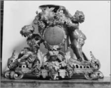 Kalisz. Kościół jezuitów Nawiedzenia NMP (Sanktuarium Serca Jezusa Miłosiernego). Wnętrze. Zegar słoneczny z paterą