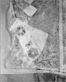 Ląd. Klasztor. Opactwo Cystersów. Fragment malowidła gotyckiego w kaplicy