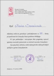 55 - lecie pracy