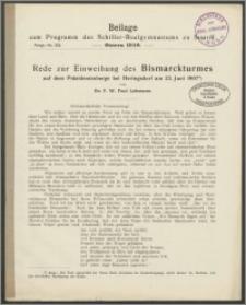 Beilage zum Programm des Schiller-Realgymnasiums zu Stettin. Ostern 1910