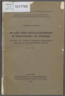 Sir Aurel Stein's Sprachaufzeichnungen im Äinallu-Dialekt aus Südpersien