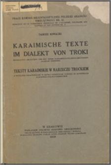 Karaimische Texte im Dialekt von Troki : eingeleitet, erläutert und mit einem karaimisch-polnisch-deutschen Glossar versehen