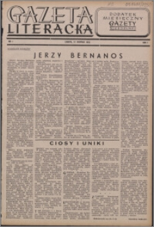 """Gazeta Literacka : dodatek miesięczny """"Gazety Niedzielnej"""" 1950, R. 1 nr 1"""