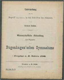 Untersuchung über den Begriff zoe aionios in den Schriften des Johannes.