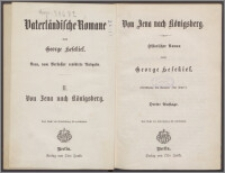 Vaterländische Romane 2, Von Jena nach Konigsberg