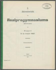 3. Jahresbericht des Realprogymnasiums (Reformschule ) Zoppot für das Schuljahr 1906/07