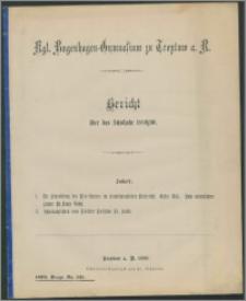 Kgl. Bugenhagen-Gymnasium zu Treptow a. R. Bericht über das Schuljahr 1889/90