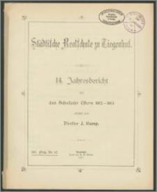 Städtische Realschule zu Tiegenhof. 14. Jahresbericht über das Schuljahr Ostern 1912-1913