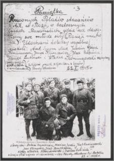 Pamiątka rzuconych Polaków skazańców z AK