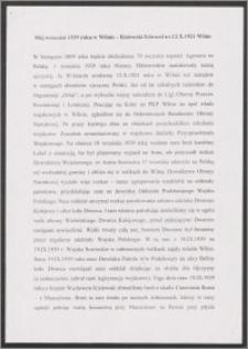 Wspomnienie września 1939 roku w Wilnie