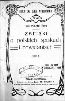 Zapiski o polskich spiskach i powstaniach. Cz. 1