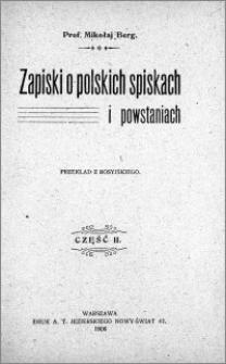 Zapiski o polskich spiskach i powstaniach. Cz. 2