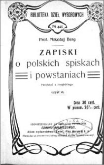 Zapiski o polskich spiskach i powstaniach. Cz. 6